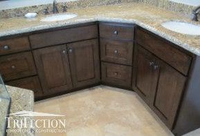 replacing bathroom cabinets