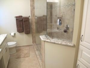 removing bathroom walls