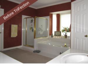 Before TriFection Shower Door Replacement