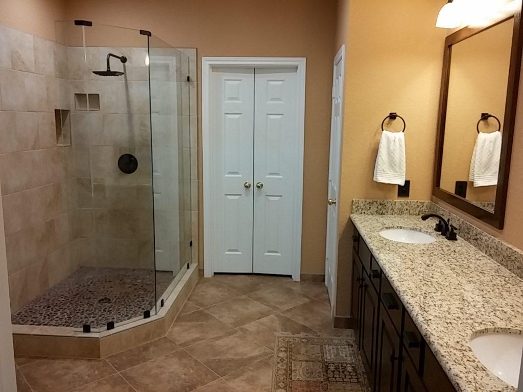 walk-in shower master bathroom upgrade