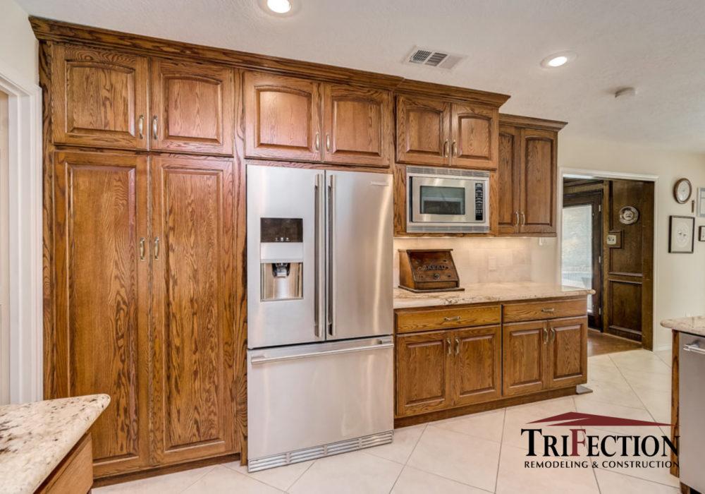 Houston Custom White Oak Cabinets