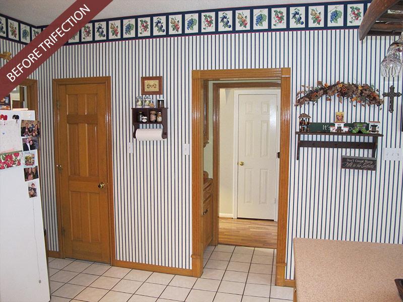 Wood-Look Porcelain Floor Tile Before