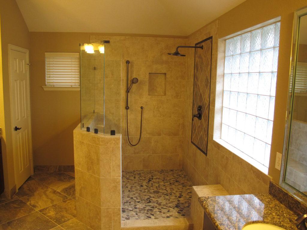 shower remodel patchwork