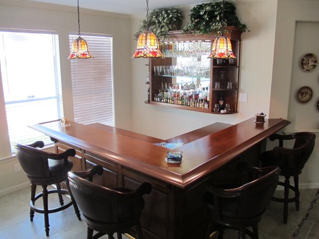 custom cabinet, beechwood aged bar