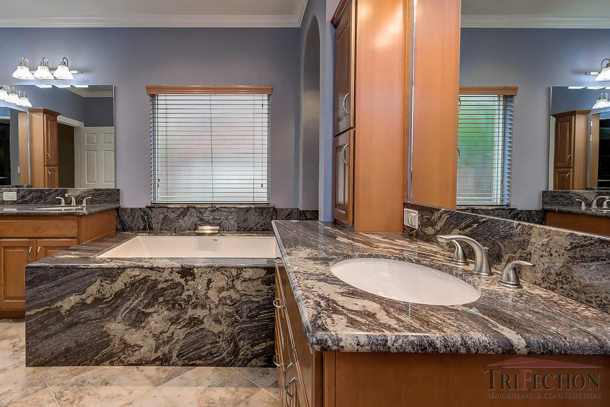 bathroom renovation houston high character granite