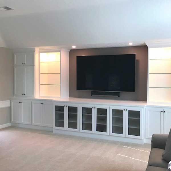 Memorial custom cabinets