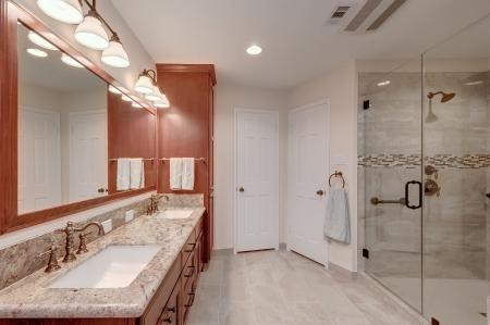 natural stone bath remodel