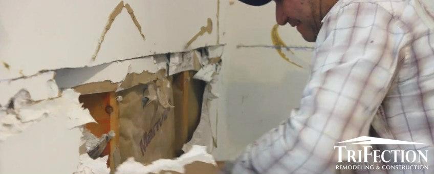 repair water damage wall